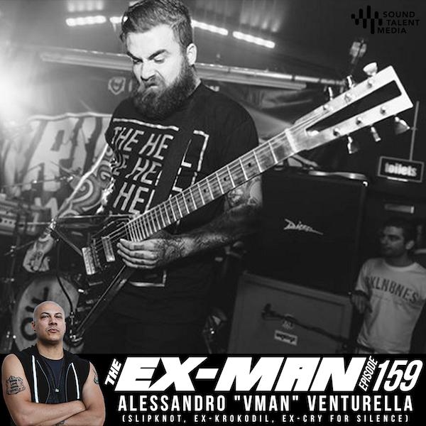 """Alessandro """"Vman"""" Venturella (Slipknot, ex-Krokodil, ex-Cry For Silence)"""