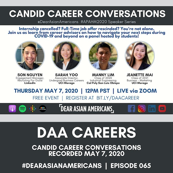 065 // Candid Career Conversations // A DAA Career Chat with Career Professionals from May 7, 2020