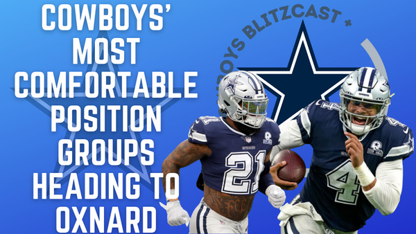 Daily Blitz – 7/7/21 – Cowboys' Most Comfortable Position Groups Heading To Oxnard