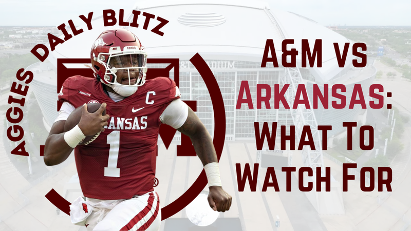 Episode image for Texas A&M Aggies Daily Blitz – 9/24/21 – Leal vs Jefferson, Aggies vs Razorbacks: What To Watch For
