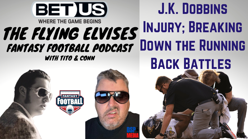Episode image for J.K. Dobbins Injury Reactions; Fire John Harbaugh? Breaking down the running back battles