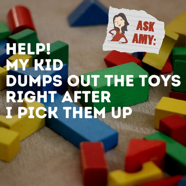 Ask Amy- My Kid Dumps Out The Toys Right After I Pick Them Up Image