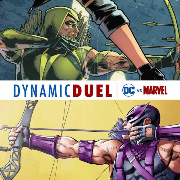 Green Arrow vs Hawkeye Image