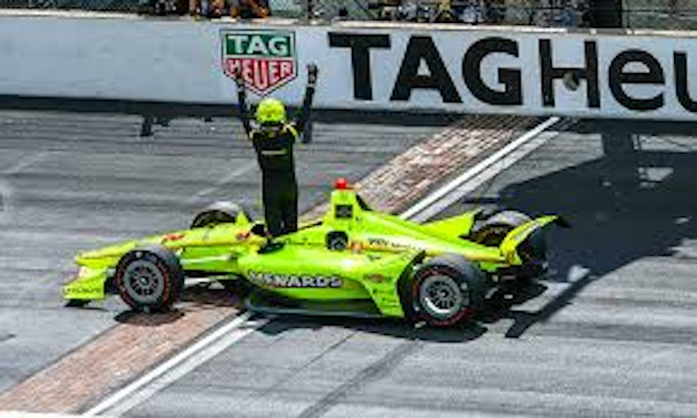 The Winners Circle with Iowa Race 1 Winner Simon Pagenaud