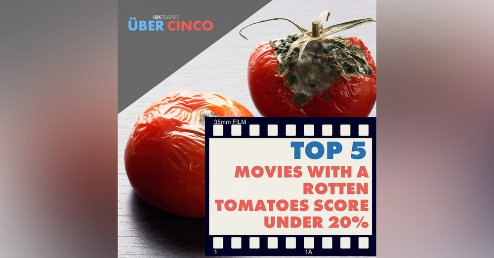 Top 5 Movies with a Score of Less Than 20% on Rotten Tomatoes