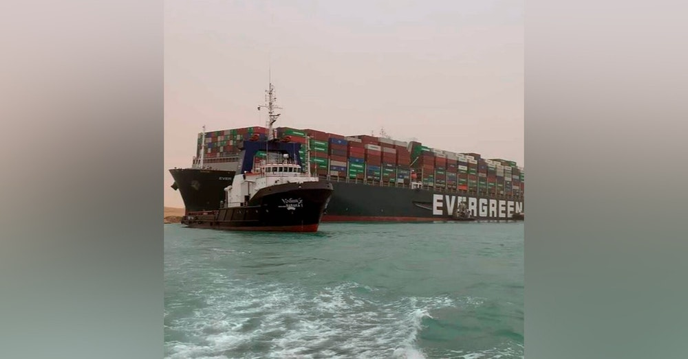 A correction, a BIG ship in trouble, and household chores