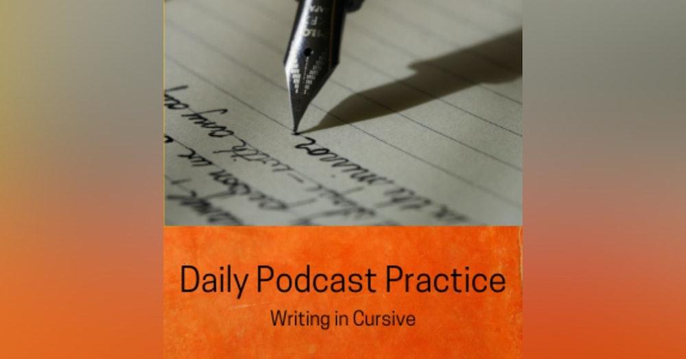 Writing in Cursive