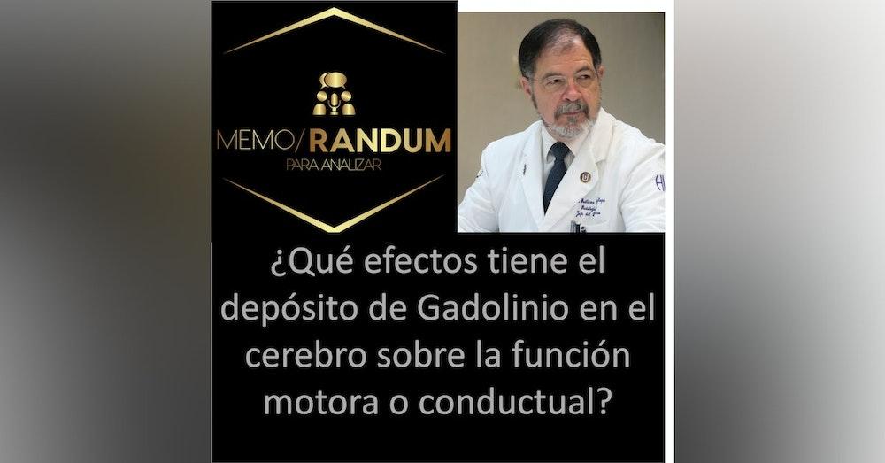 Efectos del depósito de gadolinio en el cerebro sobre la función motora o conductual: un modelo en ratones.
