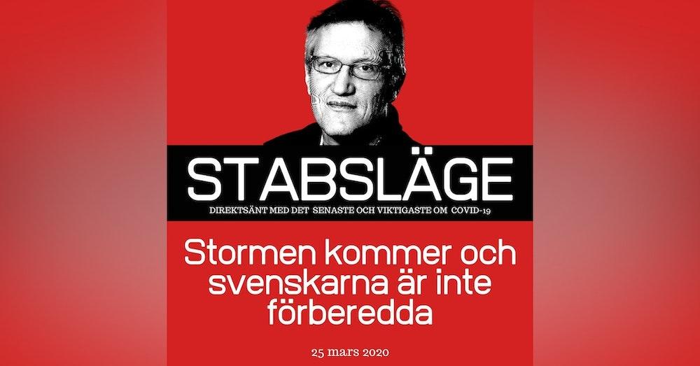 Stabsläge 25 mars - Stormen kommer och svenskarna är inte förberedda