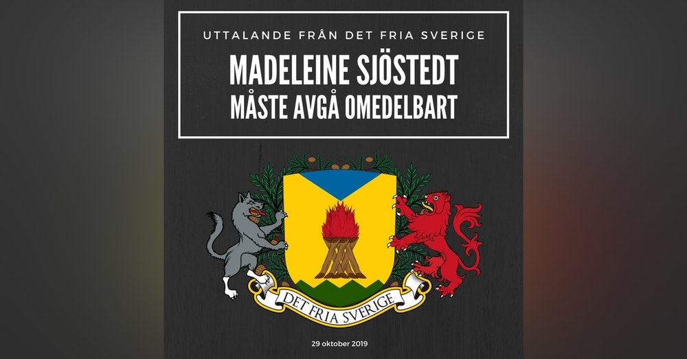 Madeleine Sjöstedt måste avgå omedelbart