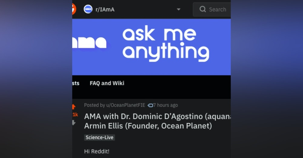 Live reddit AMA with Ocean Planet Conference!