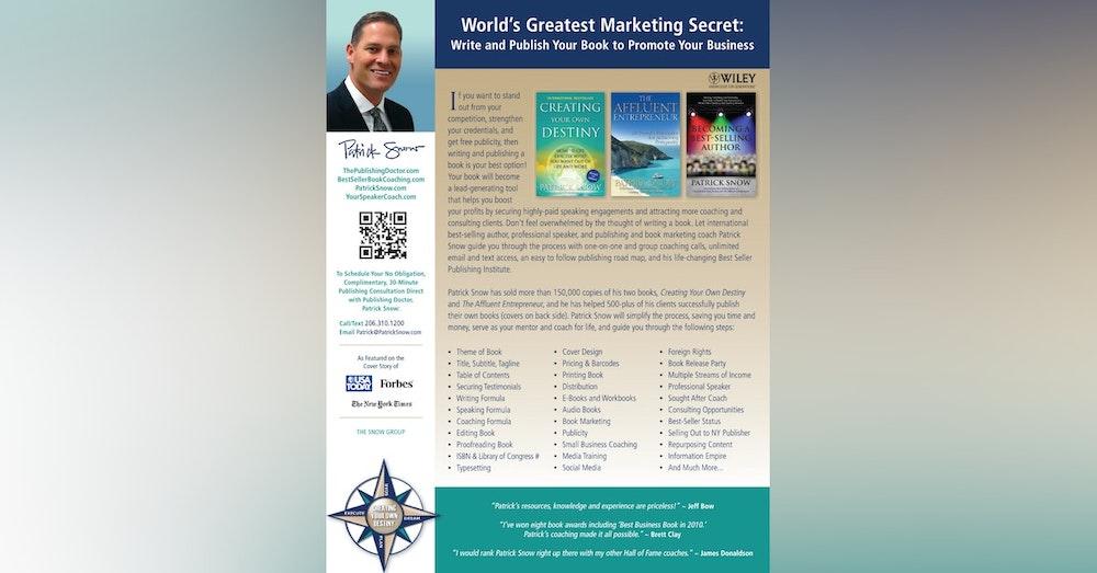 Creating your own destiny- Patrick Snow
