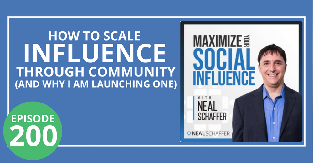 200: How to Scale Influence through Community (and Why I am Launching One)
