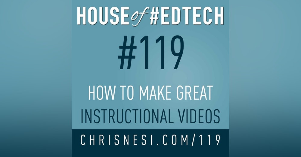 How To Make Great Instructional Videos - HoET119