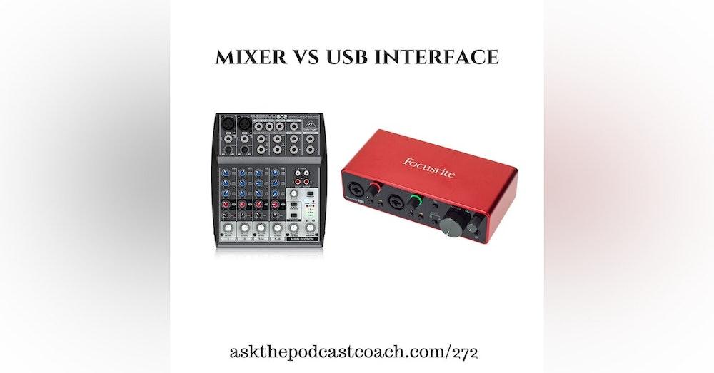 Mixer vs USB Device?