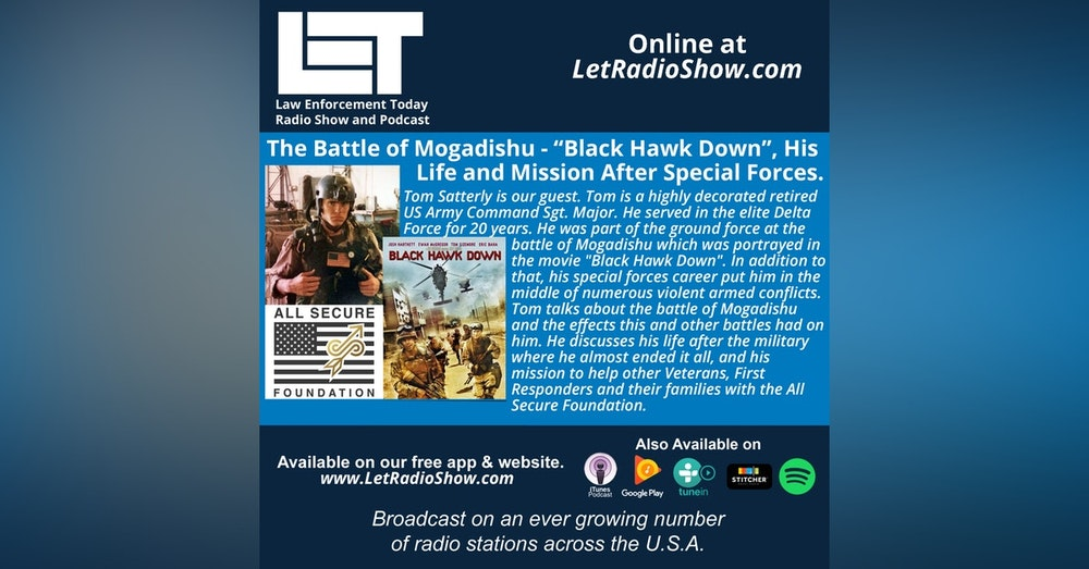 """S5E4: The Battle of Mogadishu - """"Black Hawk Down"""", His  Life and Mission After Special Forces."""