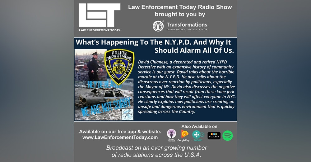 S4E46: What's Happening To The N.Y.P.D. And Why It  Should Alarm All Of Us.