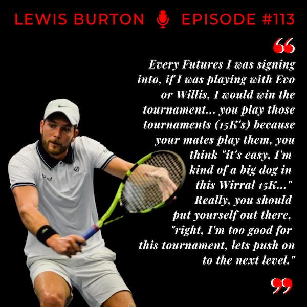 "Episode 113: Lewis Burton - ""The Model"" Tennis Player"