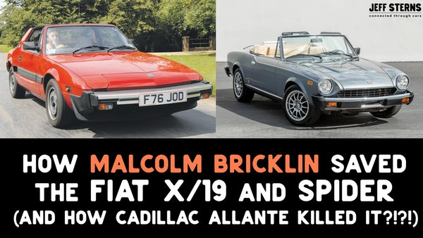 Fiat X/19 and Spider and how Cadillac Allante killed them in USA! Image