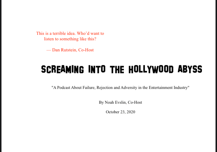 Screaming into the Hollywood Abyss