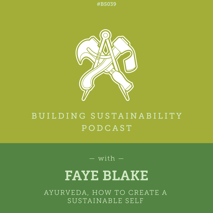 Ayurveda, how to create a Sustainable Self - Faye Blake - BS39