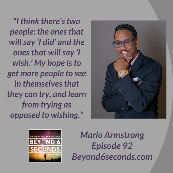 Episode 92: How Mario Armstrong learned to Never Settle Image