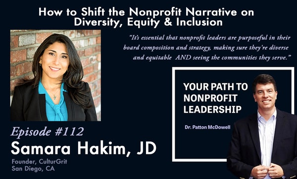 112: How to Shift the Nonprofit Narrative on Diversity, Equity & Inclusion (Samara Hakim) Image