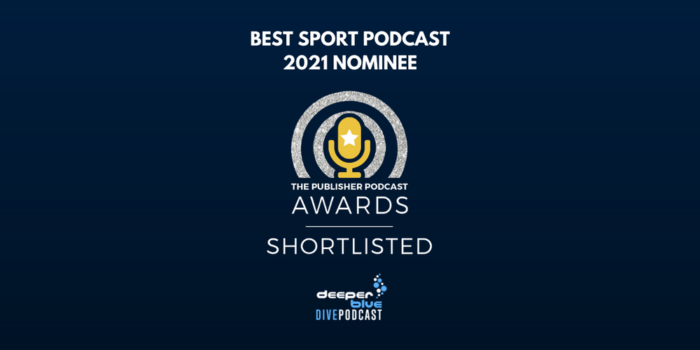 DeeperBlue Podcast Shortlisted for Best Sport Podcast 2021