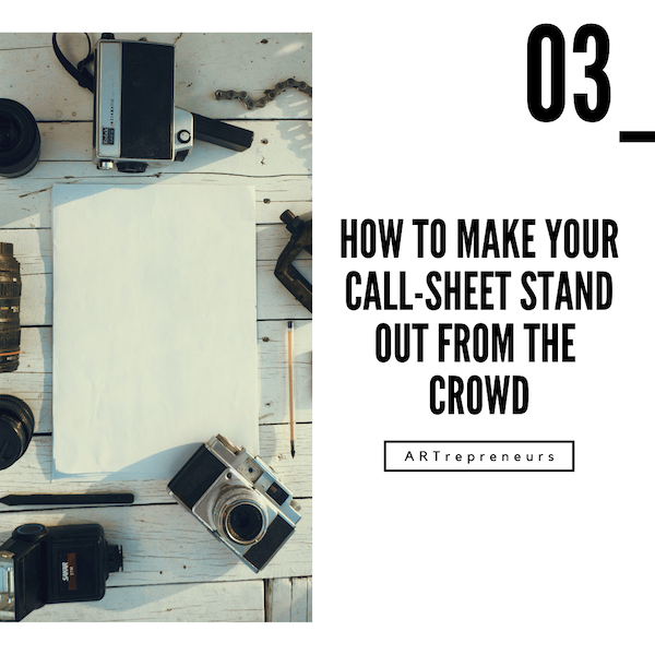 How to make your call-sheet stand out from the crowd Image