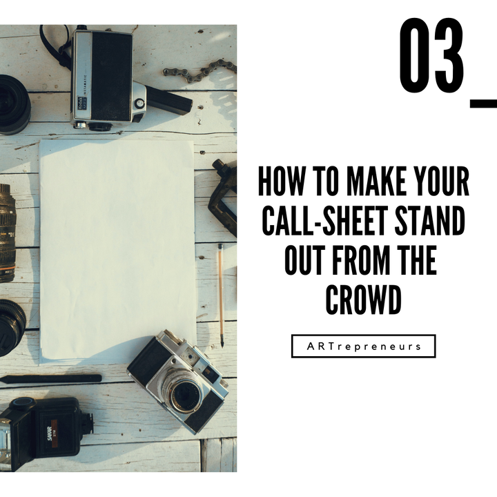 How to make your call-sheet stand out from the crowd