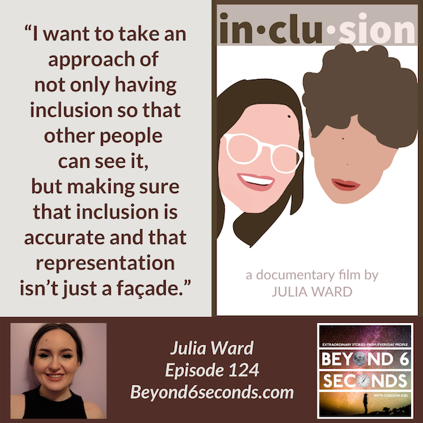 Episode 124: Authentic representation of people with disabilities in the media – with Julia Ward Image