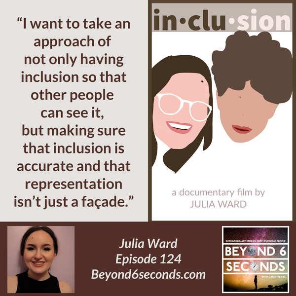 Episode 124: Authentic representation of people with disabilities in the media – with Julia Ward