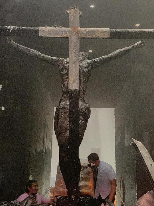 Lanzan explosivos en Capilla de la Sangre de Cristo en la Catedral de Managua
