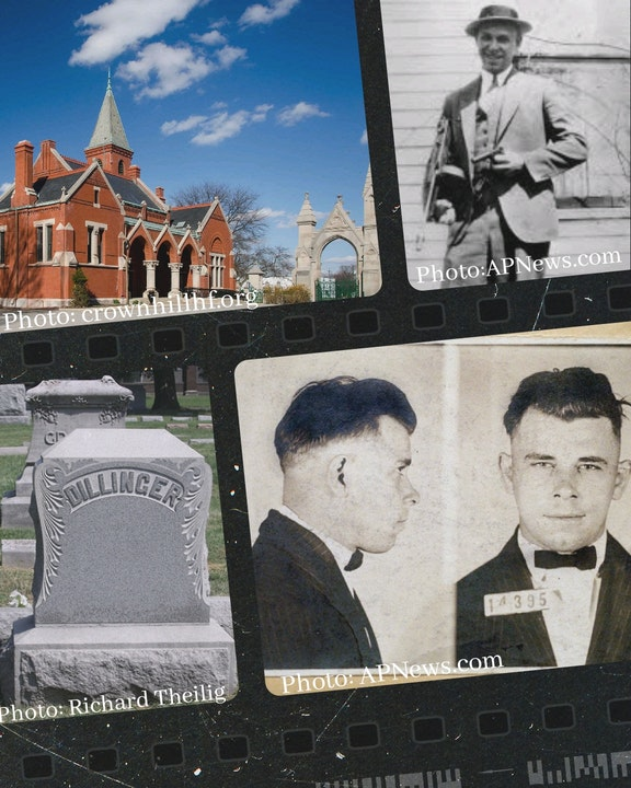 Episode 42 - John Dillinger's Grave at Crown Hill Funeral Home & Cemetery in Indianapolis, Indiana Image