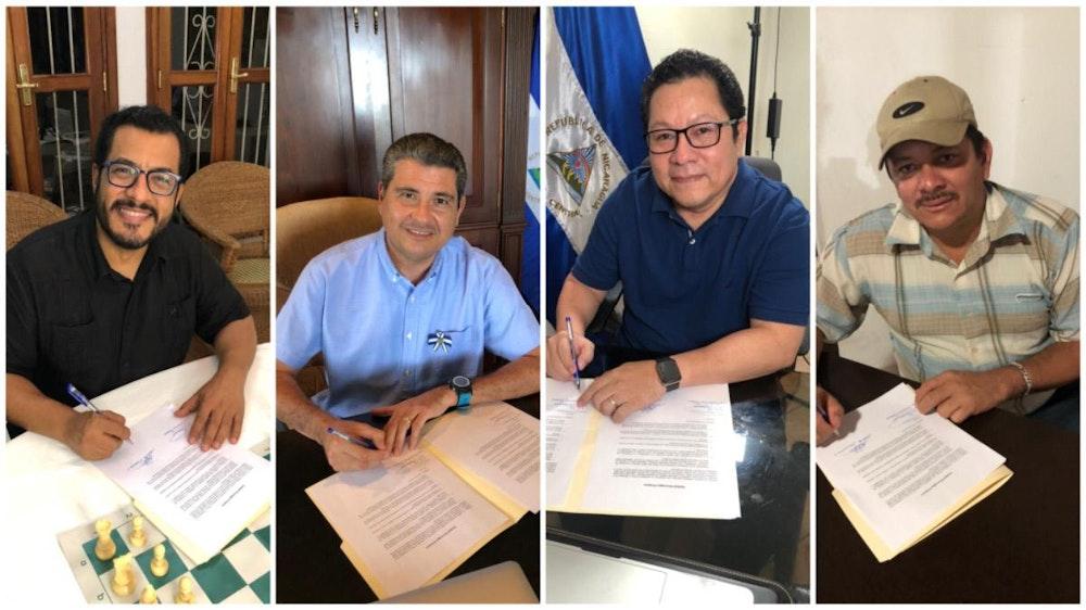 """Cuatro opositores de Nicaragua firman """"compromiso de unidad por Nicaragua"""""""
