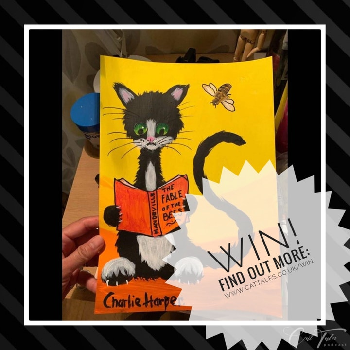 Win An A4 Print of Charlie Harper's Cat Painting