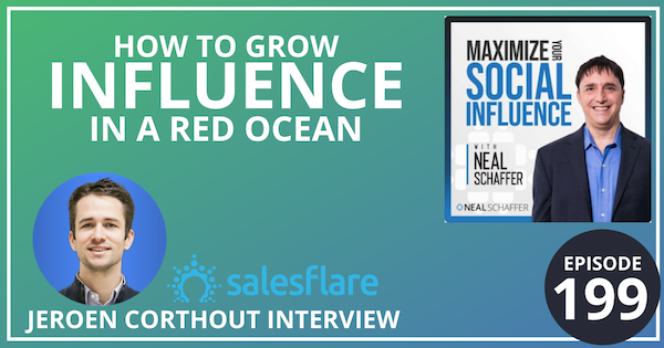 199: How To Grow Influence In a Red Ocean [Jeroen Corthout Interview] Image
