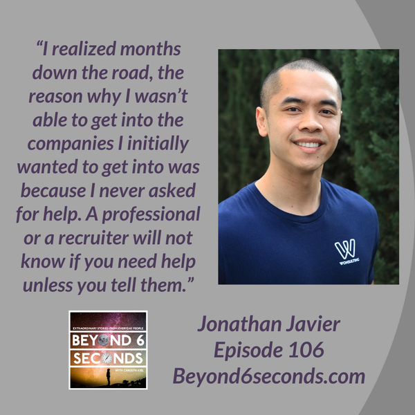 Episode 106: Helping underdogs find winning career opportunities  -- with Jonathan Javier Image