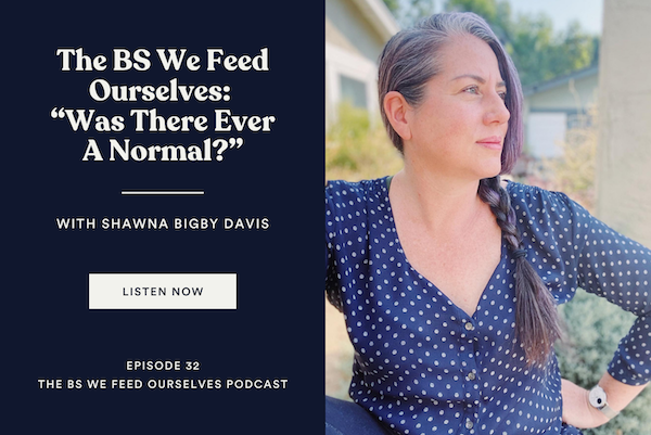 """32. The BS We Feed Ourselves: """"Was There Ever A Normal?"""""""