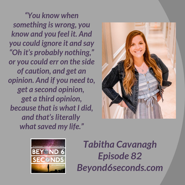 Episode 82: How a StrongAssMindset can overcome colon cancer and other challenges in life -- with Tabitha Cavanagh Image