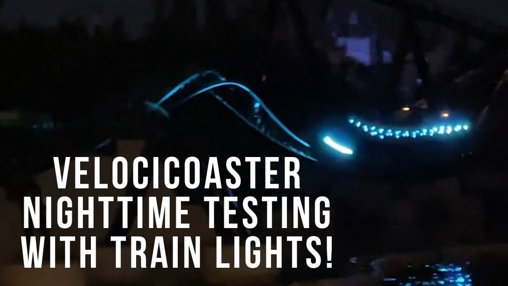 VelociCoaster at Universal Orlando Begins Nighttime Testing With Train Lights