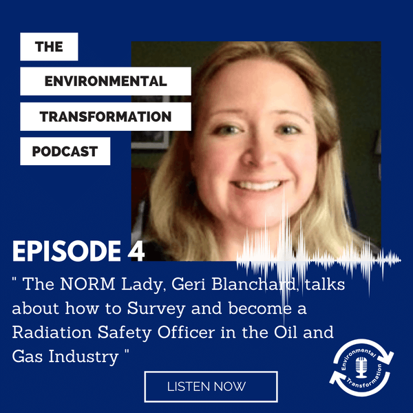The NORM Lady, Geri Blanchard, talks about how to Survey and become a RSO in the Oil & Gas industry. Image