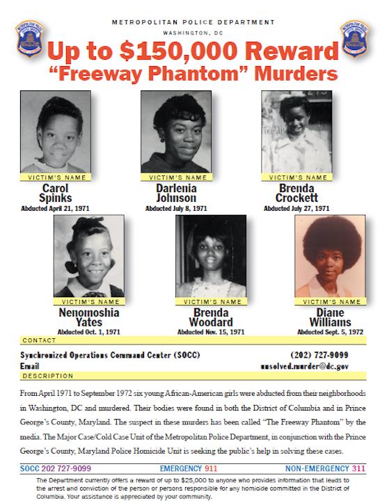 Serial Killer Freeway Phantom & the Unsolved murders of 6 Black Girls Image