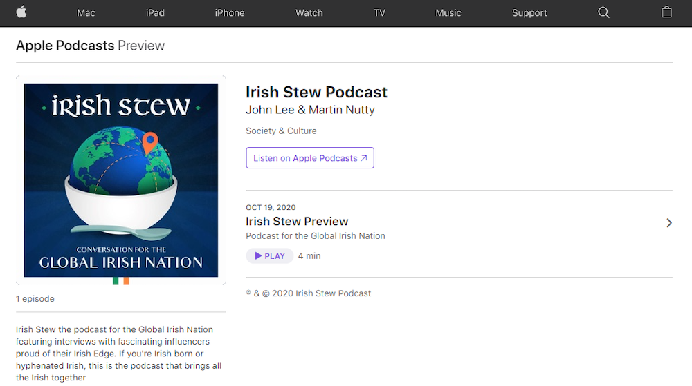 Irish Stew Available on Apple Podcasts