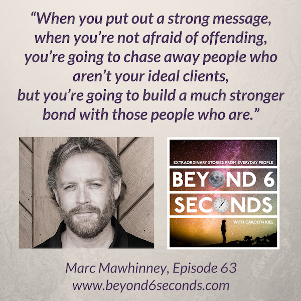 Episode 63: Marc Mawhinney – How to bounce back from adversity and deal with haters (explicit) Image