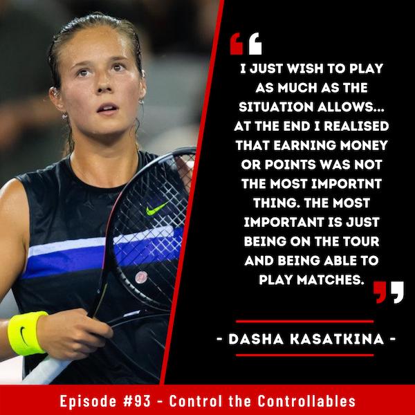 Episode 93: Dasha Kasatkina - Tik Tok..It won't be long till she is back at the top!