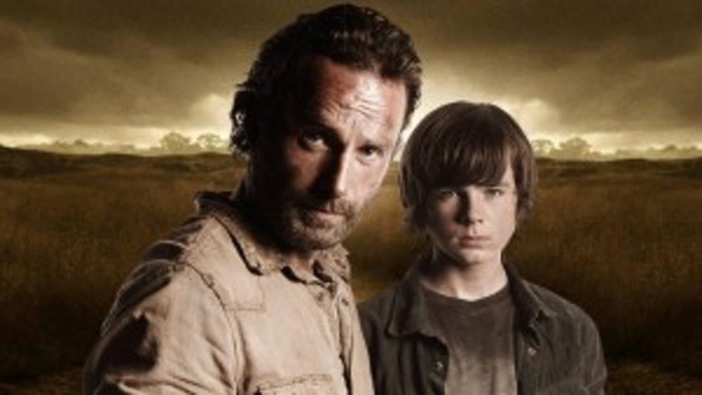 Andrew Lincoln And Chandler Riggs At SDCC 2014