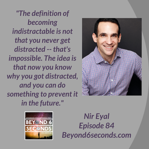 Episode 84: Becoming Indistractable -- with Nir Eyal Image