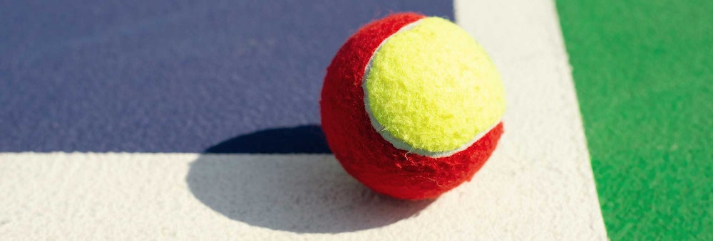Red ball tennis for adults