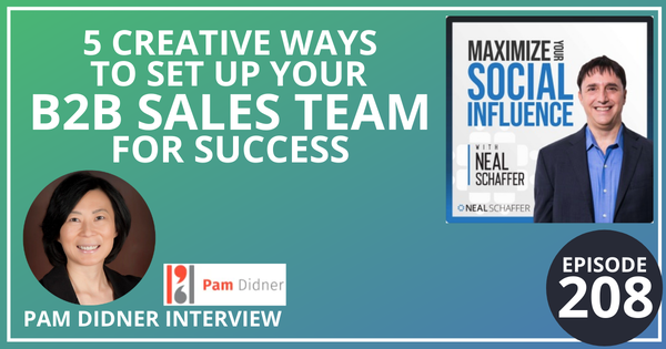 208: 5 Creative Ways to Set Up Your B2B Sales Team for Success [Pam Didner Interview] Image